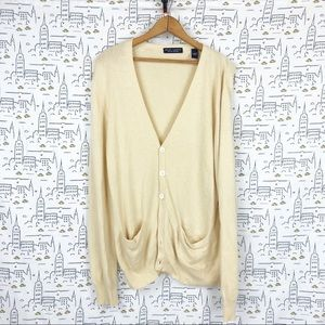 VINTAGE 100% Cashmere Cardigan by Grant Thomas Sm